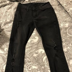 Bluenotes Black Jeans with Rips in Front